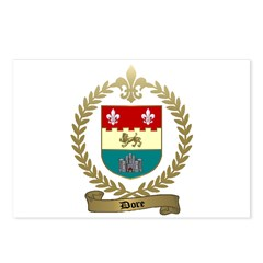 DORE Family Crest Postcards (Package of 8)