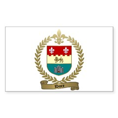 DORE Family Crest Rectangle Decal