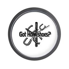 Got Horseshoes? Wall Clock