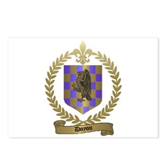 DOYON Family Crest Postcards (Package of 8)