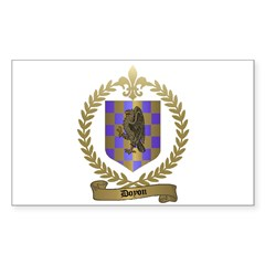 DOYON Family Crest Rectangle Decal