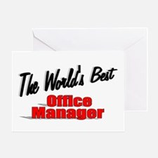 """""""The World's Best Office Manager"""" Greeting Card"""