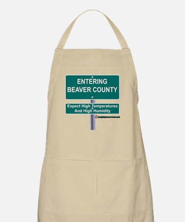 Entering Beaver County BBQ Apron
