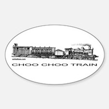 CHOO CHOO TRAIN Oval Decal