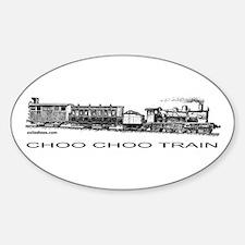 CHOO CHOO TRAIN Oval Decal