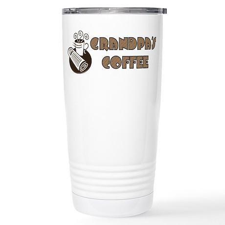 Grandpa's Coffee Stainless Steel Travel Mug