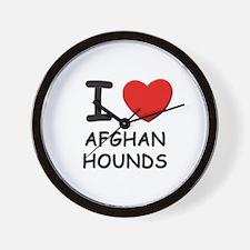 I love AFGHAN HOUNDS Wall Clock