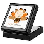 First Thanksgiving Baby Keepsake Box