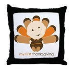 First Thanksgiving Baby Throw Pillow