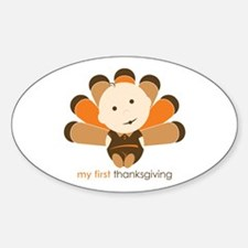 First Thanksgiving Baby Oval Decal
