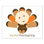 First Thanksgiving Baby Small Poster