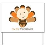 First Thanksgiving Baby Yard Sign