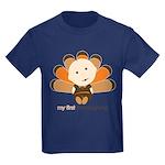 First Thanksgiving Baby Kids Dark T-Shirt