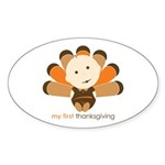 First Thanksgiving Baby Oval Sticker (10 pk)