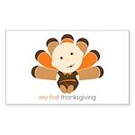 First Thanksgiving Baby Rectangle Sticker 50 pk)