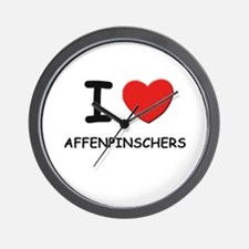 I love AFFENPINSCHERS Wall Clock