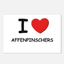 I love AFFENPINSCHERS Postcards (Package of 8)