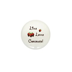 Live Love Chocolate Mini Button (10 pack)