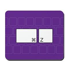 command z (purple) Mousepad