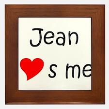 Cute Jean Framed Tile