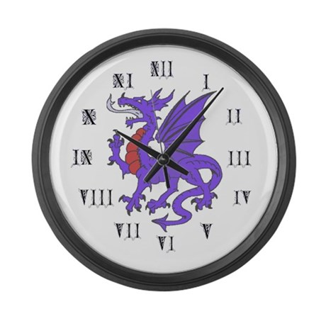 More Dragons Large Wall Clock