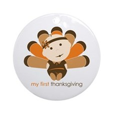 First Thanksgiving Baby Ornament (Round)