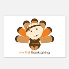 First Thanksgiving Baby Postcards (Package of 8)