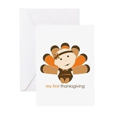 First Thanksgiving Baby Greeting Card