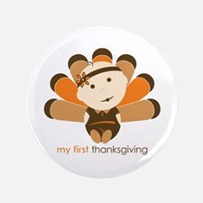 "First Thanksgiving Baby 3.5"" Button (100 pack)"