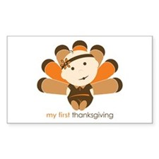 First Thanksgiving Baby Rectangle Decal