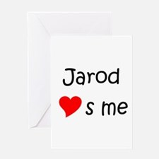 Cool Jarod Greeting Card