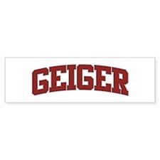 GEIGER Design Bumper Bumper Sticker
