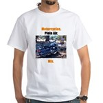 Motorcycles. Plein Air. Mix. White T-Shirt
