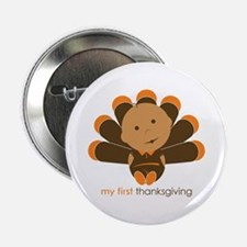 """First Thanksgiving Baby 2.25"""" Button"""