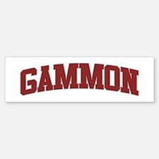 GAMMON Design Bumper Bumper Bumper Sticker