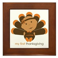 First Thanksgiving Baby Framed Tile
