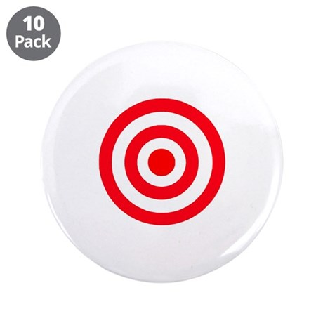 "Bullseye 3.5"" Button (10 pack)"