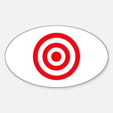 Bullseye Oval Decal