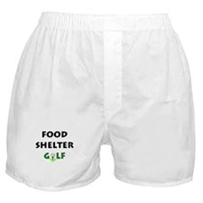 Food Shelter Golf Boxer Shorts