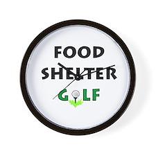 Food Shelter Golf Wall Clock