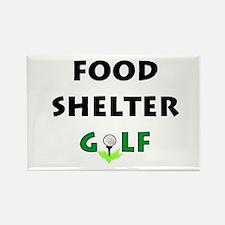 Food Shelter Golf Rectangle Magnet