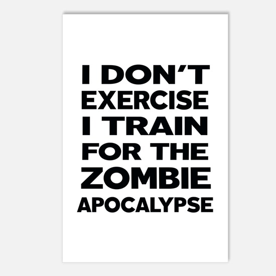 I DON'T EXERCISE Postcards (Package of 8)