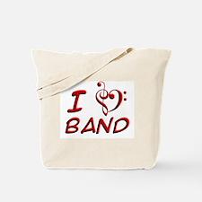 I Love Band Tote Bag