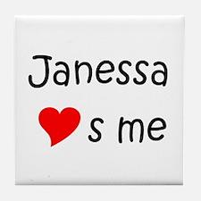 Funny Janessa Tile Coaster