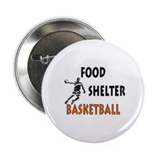 """Food Shelter Basketball 2.25"""" Button"""