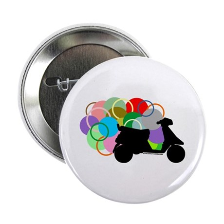 """Retro Scooter 2.25"""" Button (100 pack)"""