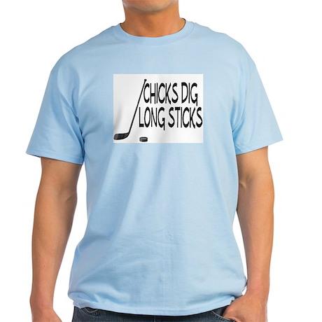 Chicks Dig Long Sticks Light T-Shirt