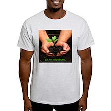 We Are Responsible. Environment Ash Grey T-Shirt