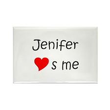Cute Jenifer Rectangle Magnet