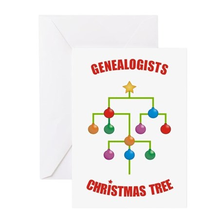 Genealogists Christmas Tree Cards (x10)